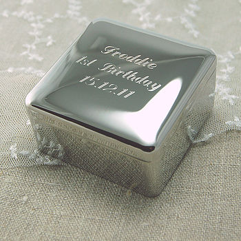 Personalised Square Trinket Box