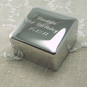 Personalised Square Trinket Box - baby & child