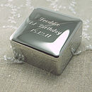 Thumb personalised square trinket box