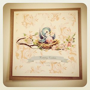 Baby Bird Easter Card