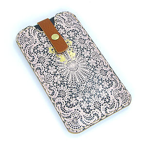 Lace/Leather Phone Case