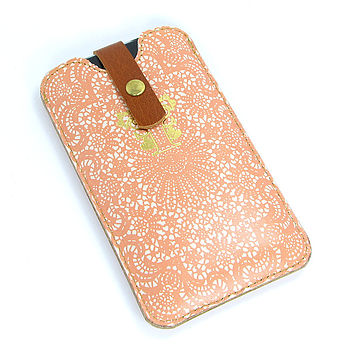 Leather Lace Phone Case