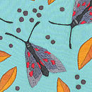 Moths Lampshade [embroidery closeup]