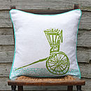 Haathgadi Rickshaw Cushion Green