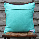 Haathgadi cushion green back
