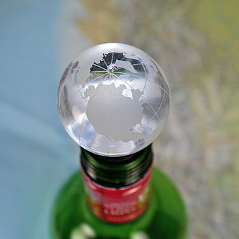Globe Bottle Stopper In Gift Box