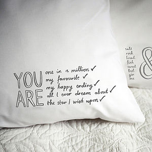 'You Are All I Ever Dream About' Pillowcase - bedroom