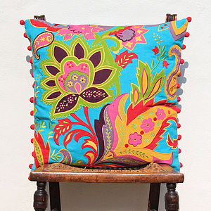 Tropical Delights Flower Cushion Cover - living room