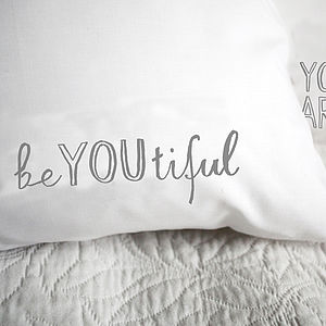 'Beyoutiful' Pillowcase - bed linen