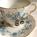 Handmade Double Silver And Tea Drop Earrings