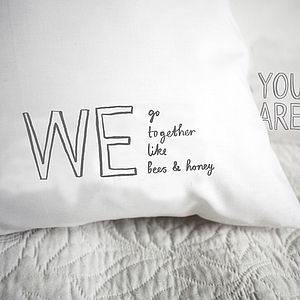 'We Go Together Like Bees & Honey' Pillowcase - bedroom