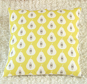 Pear Print Cushion Cover - cushions