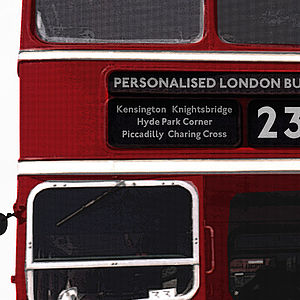 Large Personalised British Bus Wall Sticker - decorative accessories