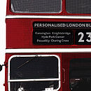 Large Personalised British Bus Wall Sticker