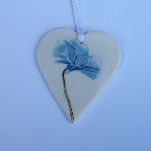 Handmade Primrose Hanging Decoration - ceramics