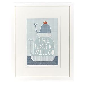 'The Places You Will Go' Framed Print