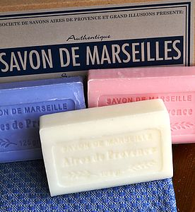 Set Of Three Savon De Marseille Gift Soaps - bathroom