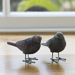 Little Love Bird Pair - sculptures