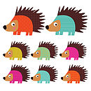 Patterned Hedgehog Wall Stickers