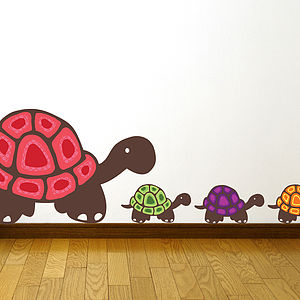Patterned Tortoise Wall Stickers - wall stickers