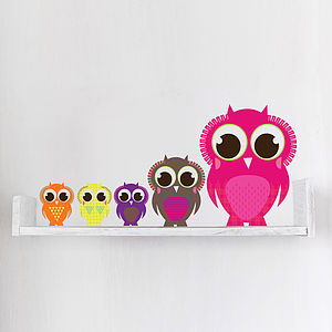 Patterned Owl Wall Stickers - wall stickers