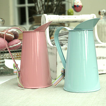 Coloured Metal Easter Flower Jug