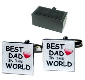 'Best Dad In The World' Cufflinks