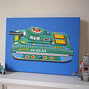 Personalised Toy Tank Canvas Print