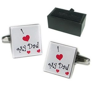 'I Love My Dad' Cufflinks
