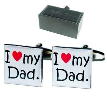 'I Love My Dad' Father's Day Cufflinks