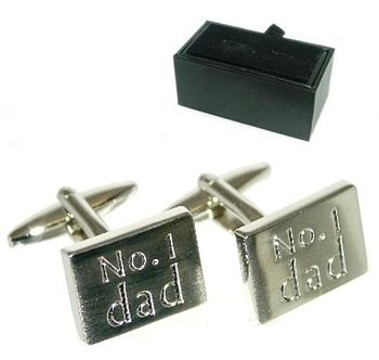 Number One Dad Father's Day Cufflinks