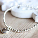 Silver Heart Locket Bracelet