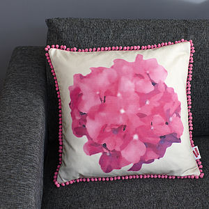 Linen Flower Cushion - summer home updates