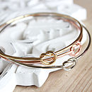 Set Of Three Love Knot Bangles