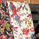 Bird of Paradise Kantha Throw - White
