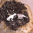 Sterling Silver Dinosaur Earrings