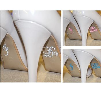 I Do Wedding Shoe Crystal Stickers Nine Cols