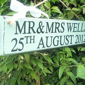 Personalised Vintage Wedding Direction Signs - garden & outdoors