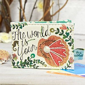 'The World Is Your Oyster' Travel Pass Holder - bags & purses
