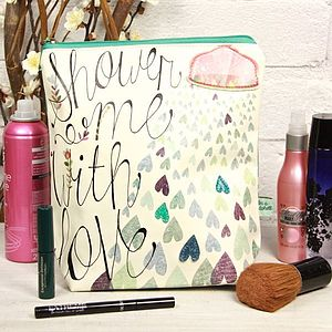 'Shower Me With Love' Wash Bag - make-up & wash bags