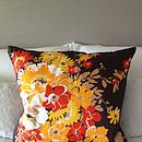 Vintage Scarf Floral Burst Cushion