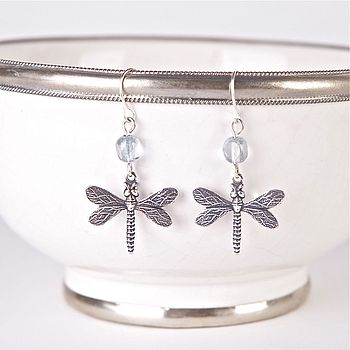 Vintage Dragonfly Earrings