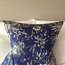 Vintage Scarf Roses Cushion
