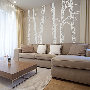 Silver Birch Trees Vinyl Wall Sticker - baby's room