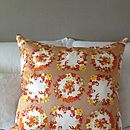 Vintage Scarf Retro Design Cushion