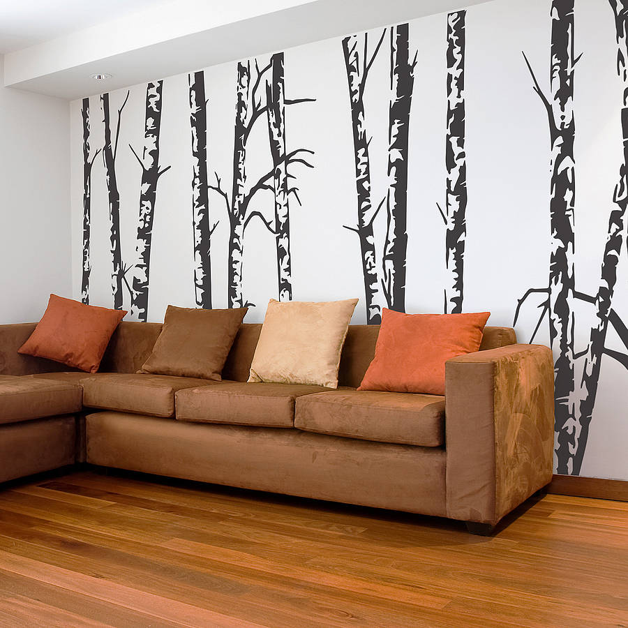 Silver Birch Trees Vinyl Wall Sticker Part 47