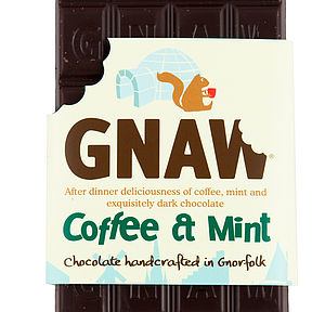 Coffee And Mint Dark Chocolate Bar - chocolates