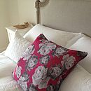 Vintage Scarf Graphic Flowers Cushion