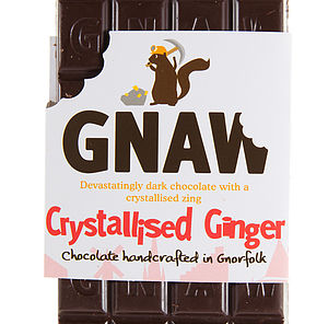 Crystallised Ginger Dark Chocolate Bar - food & drink gifts