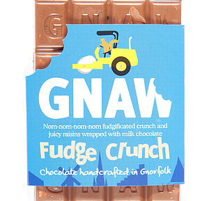 Fudge Crunch Milk Chocolate Bar - food & drink gifts